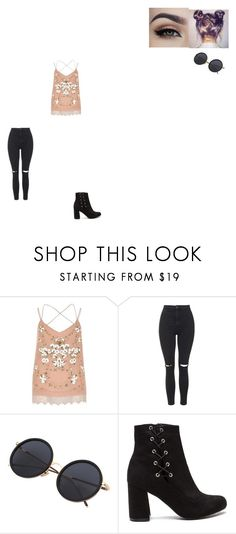 """""""Untitled #584"""" by melissaperez427 on Polyvore featuring River Island and Topshop"""
