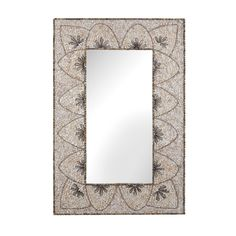 Flip it horizontal: Flower Arc Shell Mirror design by Lazy Susan