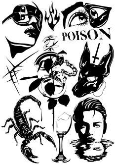 High quality A3 print Sketch Tattoo Design, Tattoo Sketches, Tattoo Drawings, Tattoo Designs, Black Ink Tattoos, Small Tattoos, Cool Tattoos, Hand Tattoos, Sleeve Tattoos