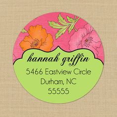 Shabby Hibiscus - Custom Personalized Address Labels or Stickers by PoshGirlBoutique