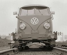 LIRR VW track vehicle 1960 view W Track 9 Jamaica near Jay Tower