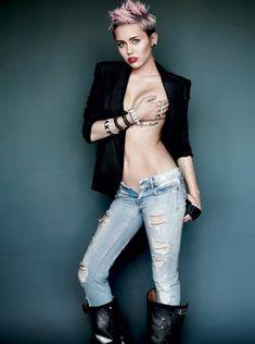 Miley Cyrus V Magazine Cover 2013 Foto 7 529x710 Nos bastidores de Miley Cyrus Photoshoot Racy para V Magazine