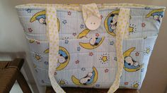 So Cute Handmade Baby Snoopy theme Lrg Blue by PrettyQuiltsTN