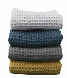 Ferm Living Organic Bath Towel - Petrol - House