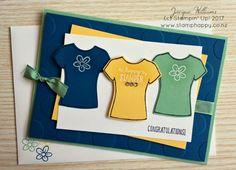 stampin up custom tee bundle congratulations card
