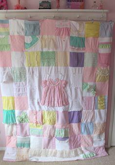 Items similar to Extra Large Custom Baby Clothes Quilt - Memory Blanket - Memory Quilt - Baby Blanket on Etsy Baby Clothes Blanket, Old Baby Clothes, Diy Clothes, Winter Clothes, Baby Memory Quilt, Baby Quilts, Memory Quilts, Quilted Baby Blanket, Patchwork Baby