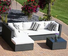Fancy Deluxe pc Outdoor Rattan Wicker Sectional Patio Furniture Sofa Chair Couch Set Outsunny
