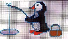Cross Stitch Borders, Cross Stitch Patterns, Penguins And Polar Bears, Fish Quilt, Doll Crafts, Hand Quilting, Knitting Stitches, Le Point, Beading Patterns