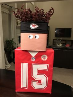 Kansas City Chiefs Patrick Mahomes Valentine's BoxYou can find Kansas city chiefs and more on our website.Kansas City Chiefs Patrick Mahomes Valentine's Box Pokemon Valentines Box, Unique Valentine Box Ideas, Valentine Boxes For School, Kinder Valentines, Unicorn Valentine, Valentines For Boys, Valentinstag Party, Le Chef, Diy For Girls