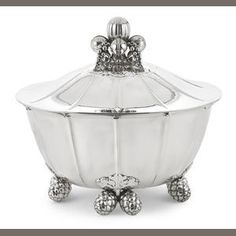 Bonhams 1793 : A Danish sterling silver covered soup tureen, #340 Georg Jensen Silversmithy, Copenhagen, 1945 - 1977