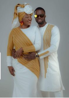 We're changing things up, and making it possible for you to grab your favorite looks Couples African Outfits, Couple Outfits, African Attire, African Dress, African Inspired Fashion, Latest African Fashion Dresses, African Print Fashion, Africa Fashion, Nigerian Wedding Dresses Traditional