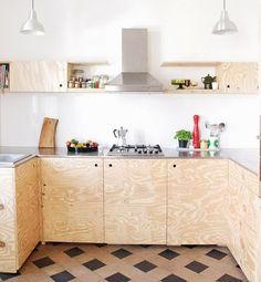móveis de compensado - ideia de material de construção - para construir - feito em casa - móvel resistente