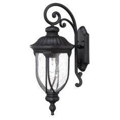 Netlighting Fixtures Home Depot : ... Light Outdoor Matte Black Light Fixture, 2212BK at The Home Depot