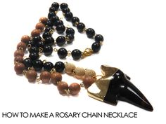 How to make a Rosary Chain Shark Tooth Necklace | Alonso Sobrino Hnos. Co. & Inc. Druzy Beads and Fabrics