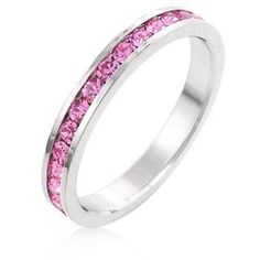 Pink Swarovski Crystal Channel Set Ring in White Gold overlay - Size 6 Silver Moon Bay http://www.amazon.com/dp/B00J2HZ1TM/ref=cm_sw_r_pi_dp_bLfZub0H1SYN5