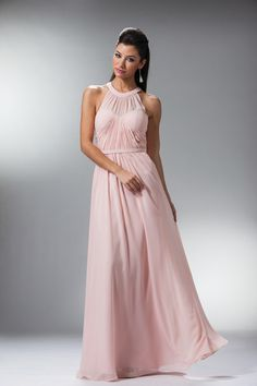 Classy Rouched Long Prom  Dress Gow Evening Bridesmaids - The Dress Outlet - 4