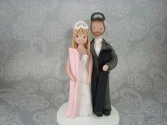 Custom Snowboard/ Ski Theme Wedding Cake Topper by mudcards, $150.00