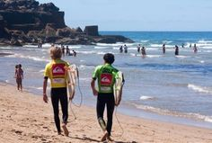 Surfers of all levels enjoy the waves at Ericeira, which, as a World Surfing Reserve, is home to a number of surf schools and competitions. Lisbon Region, Portugal