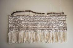 Wall Decor Tapestry Handmade Burlap and Merino Wool
