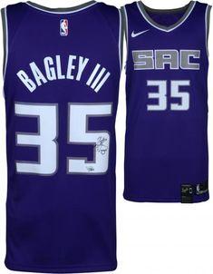 230a10ede238 Marvin Bagley III Sacramento Kings Autographed Purple Nike Swingman Jersey