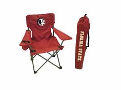 Florida State Seminoles Ultimate Junior Tailgate Chair: Perfect for the little ones!Kid-size chair, with… #Sport #Football #Rugby #IceHockey