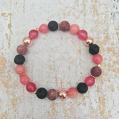 Essential Oil Diffuser Bracelet Lava Stone Aromatherapy
