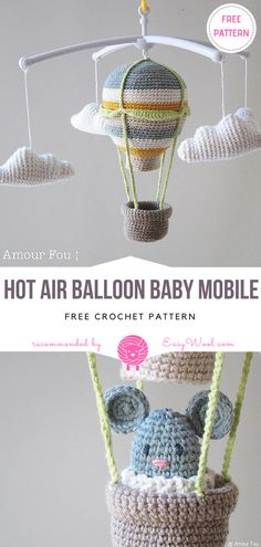 Hot Air Balloon Baby Mobile Free Crochet Pattern | EASYWOOL