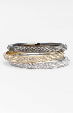 Nadri Micro Pavé Bangle - wear them single, or stacked for extra sparkle!
