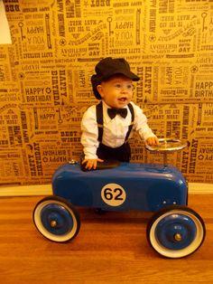 Boy first birthday vintage TOYLAND photo shoot