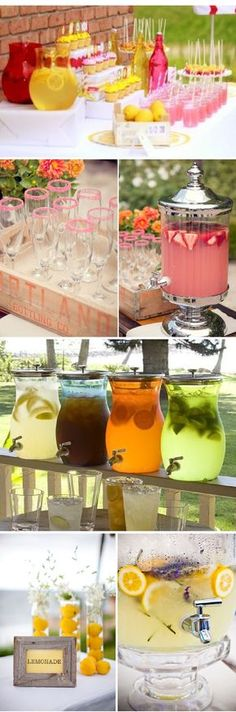 Lemonade Bar - great idea for a wedding or shower! Love this!