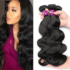HEBE Brazilian Hair 3 Bundles Unprocessed Brazilian Virgin Hair Body Wave 18 20 22 Inches 100% Human Hair Weave Extensions Natural Color Dyeable ** To view further for this item, visit the image link. (This is an affiliate link and I receive a commission for the sales)