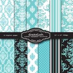 Patterns & Backgrounds - Tiffany Engagement Collection - MYGRAFICO - DIGITAL ARTS AND CRAFTS STORE