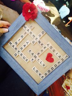 Gift to grandparents. Put the grand children and great grandchildren's names