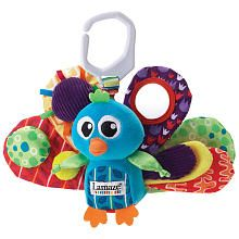 Featuring multiple textures, colors and sounds to keep your baby captivated and entertained, this plush Lamaze® Jacques the Peacock toy from Learning Curve® comes complete with a Lamaze® link, making it easy to take with you wherever you go!