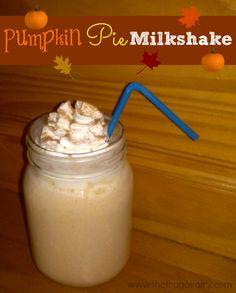 Pumpkin Pie Milkshake #halloween #thanksgiving #autumn