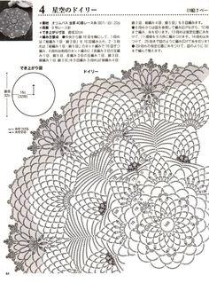 Crochet Doily Diagram, Crochet Doily Patterns, Thread Crochet, Crochet Designs, Crochet Doilies, Knit Crochet, Cute Crafts, Yarn Crafts, Crafts To Make
