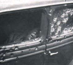 Bonnie Parker Photo Death | Bonnie Parker & Clyde Barrow's 1934 Ford V-8 Sedan ~