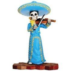 Mariachi Band Female Violin Player Statue, dia de los muerto ...