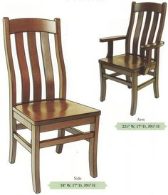 Gentil Amish Handmade Hardwood Chairs Three Slat Bent Back Shaker Tapered Leg Arm  U0026 Side Chairs