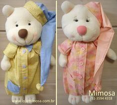 Projeto Casal de Ursos Porta Pijama