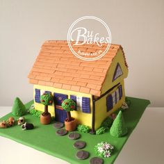 100% edible housewarming cake by bubakes.co.uk More More