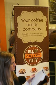 A jolt of creativity for a promotional banner - Bluff City Coffee