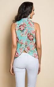 Resultado de imagen para blusas de chifon manga larga con escote