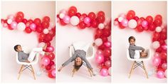 2020 Valentine's Day Minis » San Diego Newborn Photographer – All ColorsPhotography Mini Balloons, White Balloons, Balloon Garland, Color Photography, Newborn Photographer, All The Colors, Minis, San Diego, Valentines