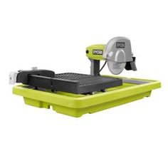 RYOBI introduces the 9 Amp Corded 7 in. Overhead Wet Tile Saw. The overhead design allows for a wide range of cuts and versatility as well as professional quality cuts. Circular Saw Reviews, Best Circular Saw, Ryobi Table Saw, Flooring Tools, Tile Flooring, Stone Deck, Portable Table Saw, Table Saw Stand, Decking Material
