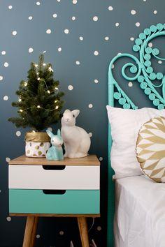 Cool gift ideas   christmas lights for a kids room  girls bedroom ideas www.fourcheekymonkeys.com