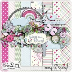 Quality DigiScrap Freebies: Hurry Up, Spring! mini kit freebie from Bella Gypsy