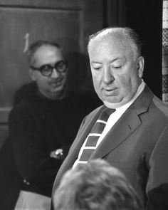 Hitchcock on the set of Psycho