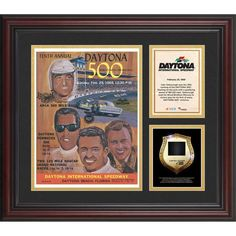 Fanatics Authentic 1968 Daytona 500 Program 3 Photograph Core Collage with Sprint Tower Banner-Limited Edition of 500 - $89.99