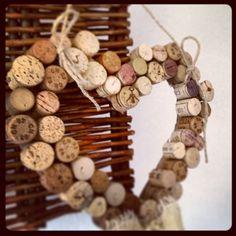 Herz aus Weinkorken